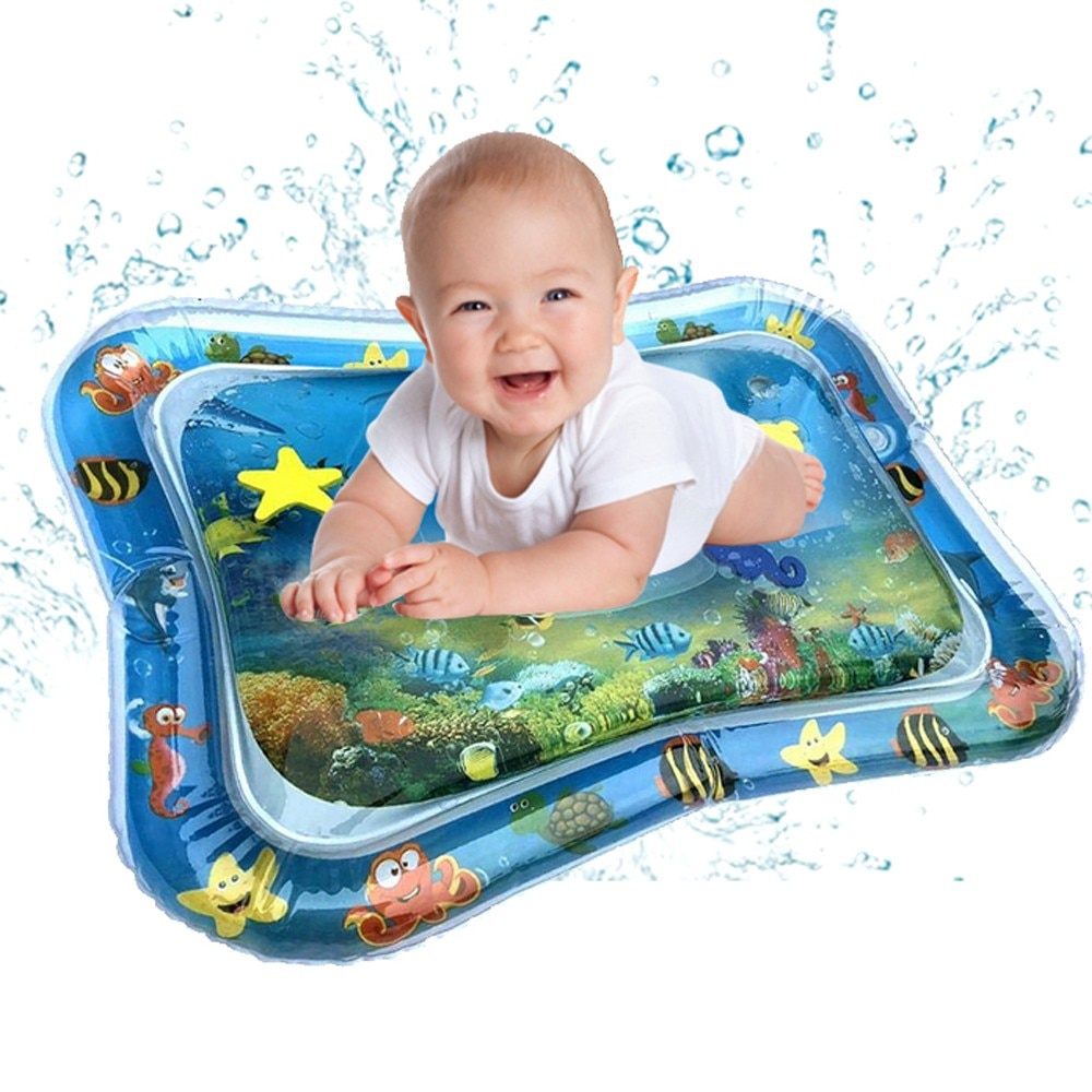 Summer Inflatable Baby Water Mat Fun Activity Play Center for Children Infant Safety Cushion Ice Play Mat Early Education Toys#5