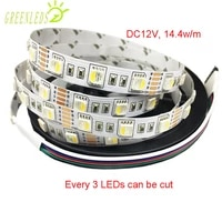 led strips ip20 no waterproof 60leds per meter rgbw color 14 4wm dc12v24v ip20 flexible strips with 3 years warranties