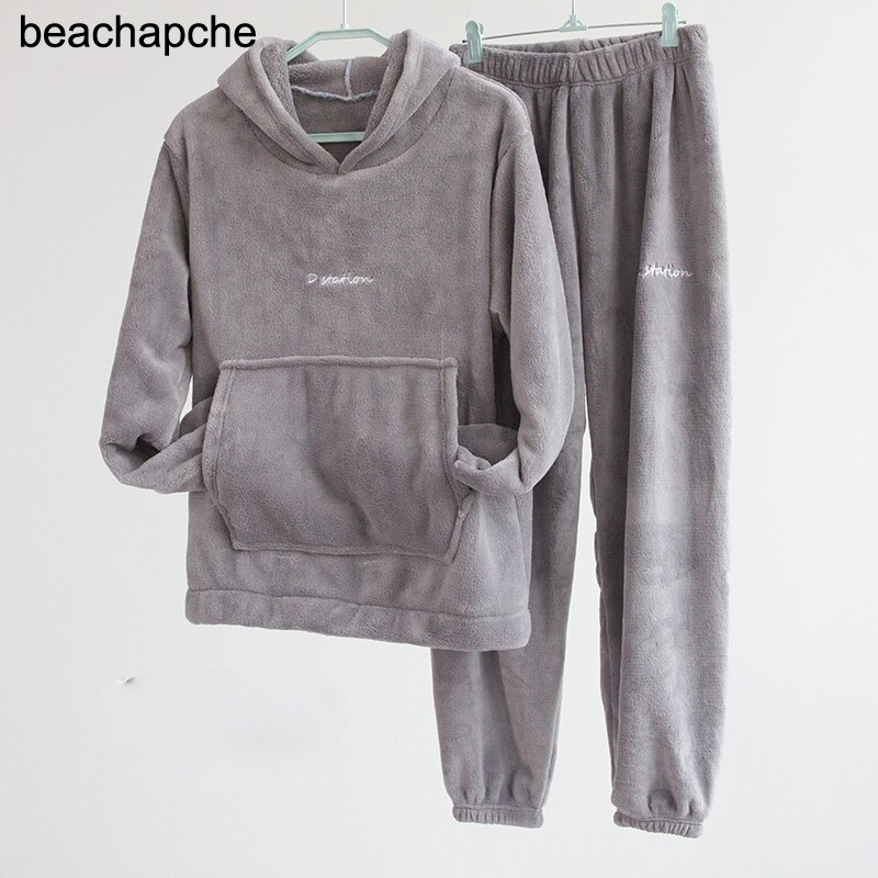 Beachapche winter hoodies und lange hosen samt 2 zwei stück set frauen streetwear lose trainingsanzug sweatsuit warm baggy frau