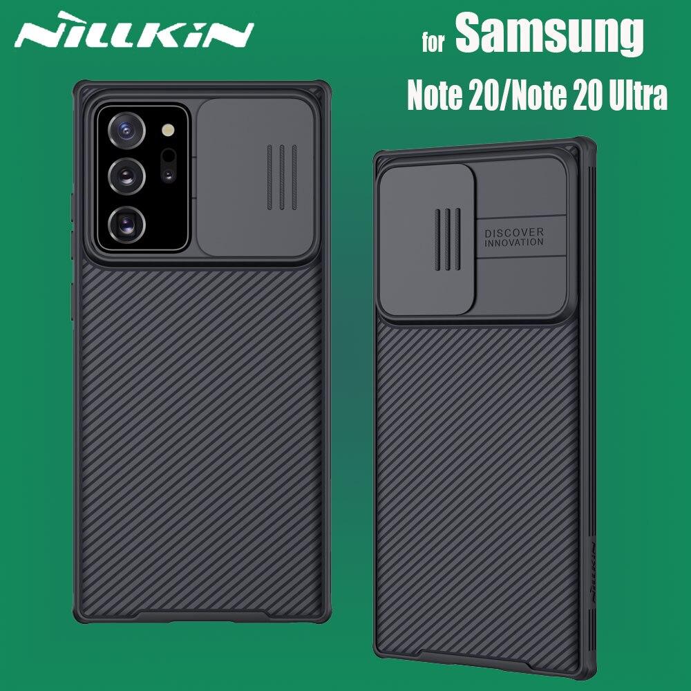 Funda Ultra para Samsung Galaxy Note 20/Note20, funda protectora para lente de cámara, funda protectora Nillkin CamShield para cámara