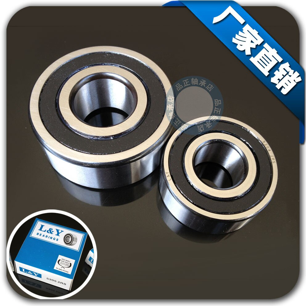 Peças de alta velocidade do rolamento 5306-2RS 2 30x72x30.2mm linha dupla rolamentos de esferas de contato angular 5306 3306 2RS 3306RS 30*72*30.2mm
