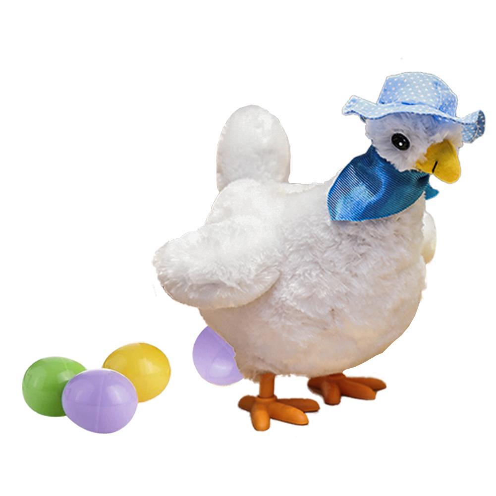 1pc Engraçado Boneca Frango Cru Galinhas põem ovos de galinhas crazy elétrica pet brinquedos de pelúcia para As Crianças Presentes