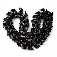 35pcs handmade black bat shape lampwork beads strand loose bead for bracelet necklace diy jewelry making accessories