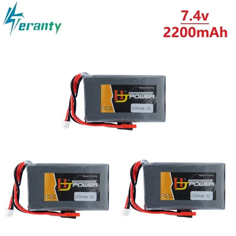 High Power 2200mAh 7,4 V 2S 2S1P Leben Akku für BBL1 Futaba 3P Stecker für 14SG 16SZ 18SZ 7,4 v Fernbedienung batterie 3Pcs