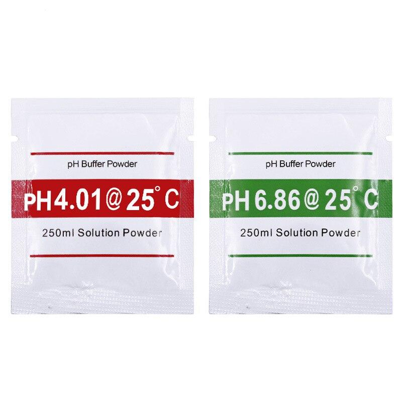 10 Uds medidor de PH pluma de exactitud del probador polvo de corrección de PH 5 uds 4,01 + 5 uds 6,86 polvo amortiguador