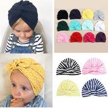 Gorra de algodón para bebé, Bandanas para niñas bebés, turbante para niños, bandas para la cabeza del cabello, accesorios envolventes para niños, diadema