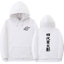 Sudadera con capucha para hombre y mujer de estilo de calle japonesa de otoño e invierno de anime naruto