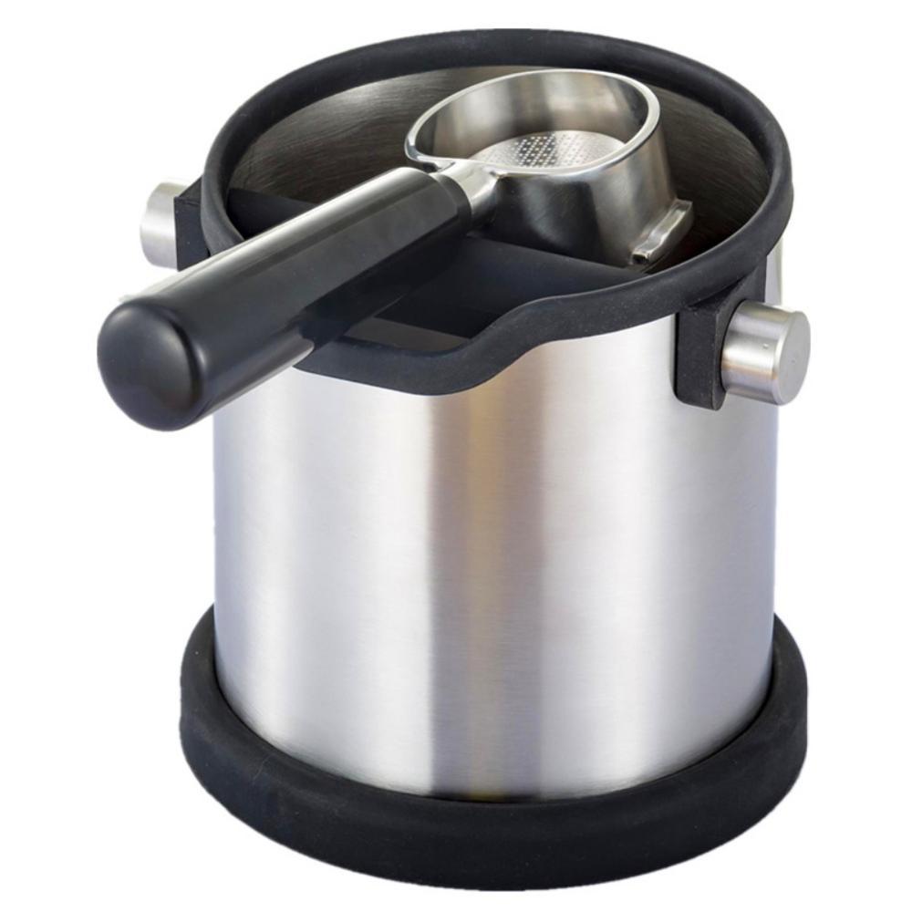 New Stainless Steel Coffee Knock Bin Box Barrel Bucket Barista Espresso Grind Anti slip Detachable Knock Bar Tools Drop