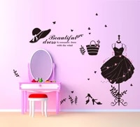 new goods clothes shoes hats sitting room bedroom home decoration black wall stickers on the wall glasses coat hanger