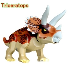 Locking Duplo Animals Figure Triceratops Dinosaur Model Blocks Toy For Kids Jurassic Park Dragon Dinosaurs Set Animal dinosaur