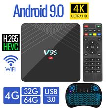2020 4K ultra HD Smart Android 9.0 TV Box 4GB 32GB 64GB TVBOX Android 9 tv Receiver Media player Set