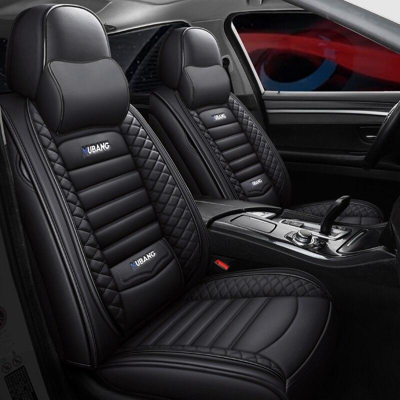 Cobertura completa eco-assentos de automóvel de couro cobre tampas de assento de carro de couro do plutônio para mercedes benz m classe ml w164 w166 gle gle43 gle63