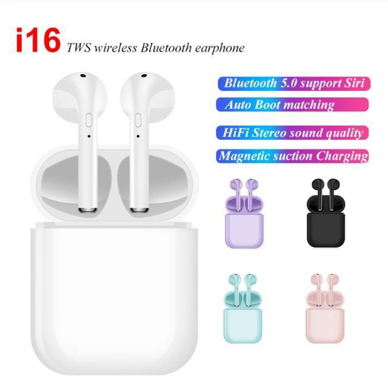 I16 TWS, беспроводные Bluetooth наушники, наушники, стерео наушники, Bluetooth 5,0, гарнитура в ухо, сенсорное управление, Hifi наушники с микрофоном
