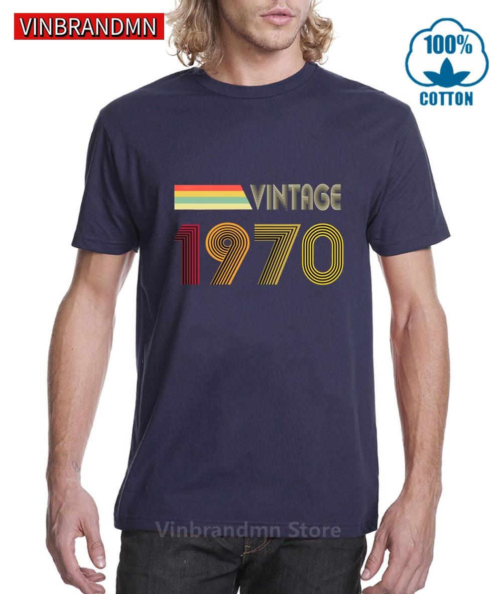 Camiseta Vintage 1970 piezas originales para hombre, camisa de 50 años, hecha...
