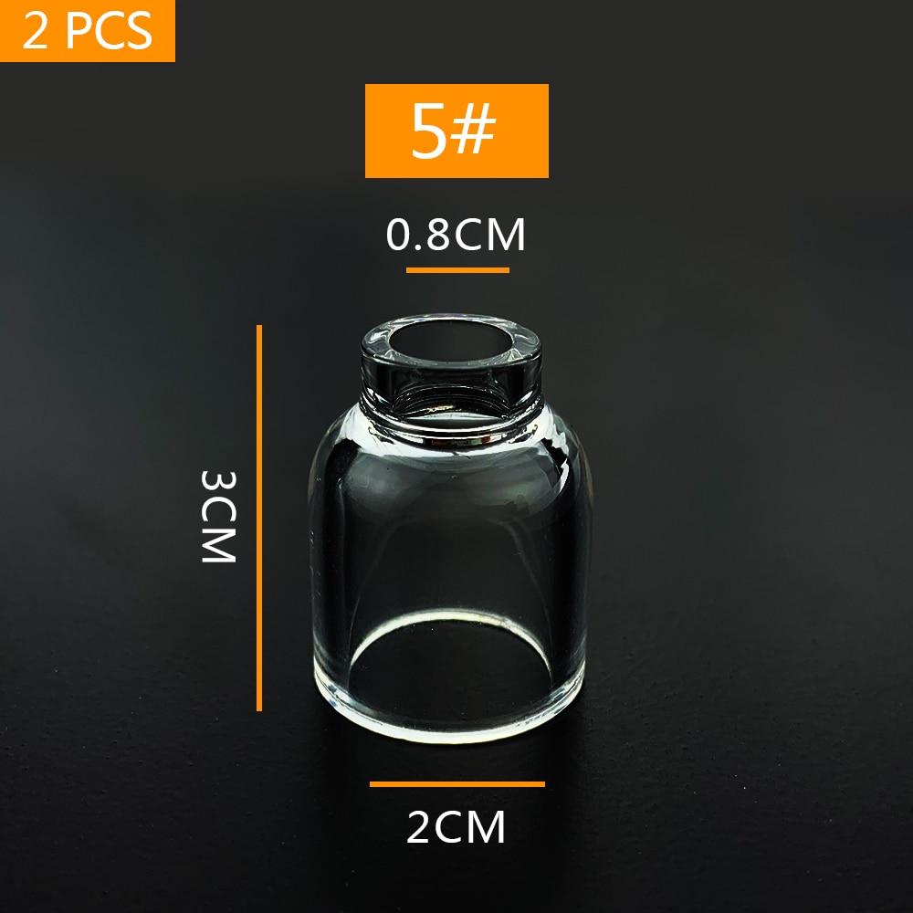 Прозрачная пирекс сварочная короткая газовая линза стеклянная чашка #5 для Tig WP-17/18/26 фонарь