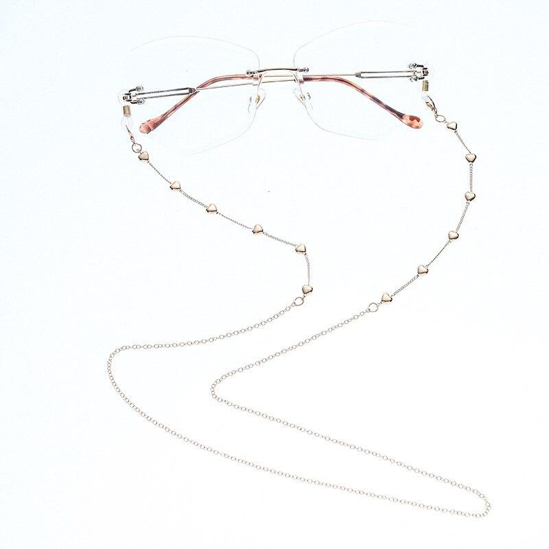 2020 Chic moda Simple Color oro corazón cuentas cadena para gafas de lectura cuerda para anteojos soporte Correa gafas de sol Accesorios