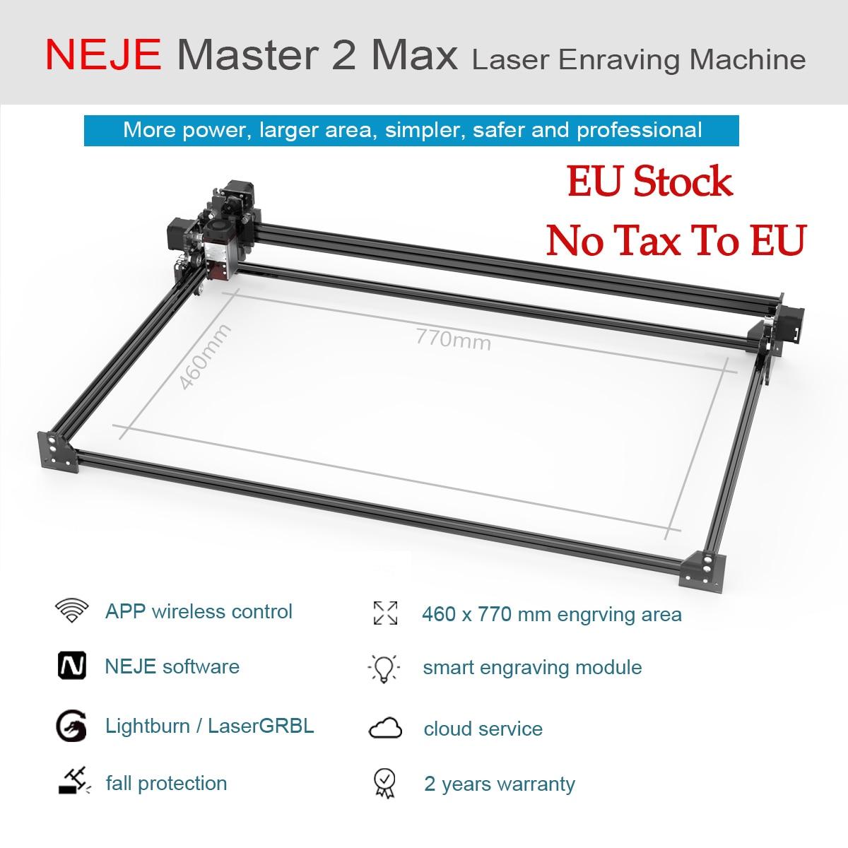 2020 NEJE Master 2S Max 460 x 810 mm Professional Laser Engraving Machine, Laser Cutter - Lightburn - Bluetooth - App Control
