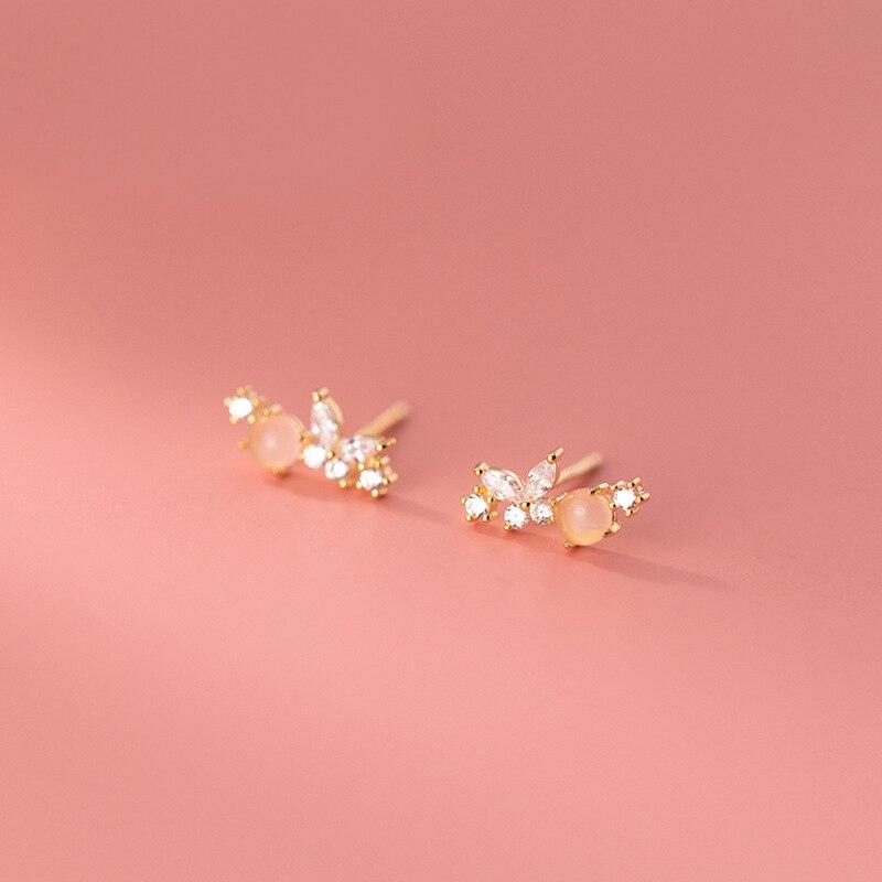 Женские-маленькие-серьги-гвоздики-mloveacc-из-стерлингового-серебра-925-пробы-с-милым-розовым-цирконием-и-бабочкой-модные-корейские-романтичны