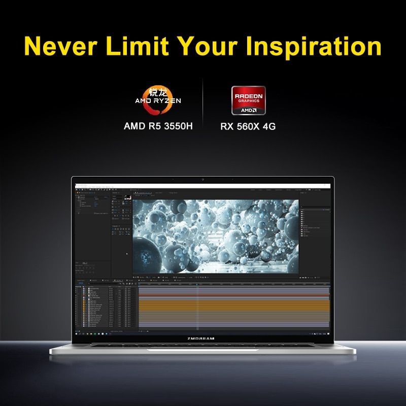 MAIBENBEN ZMDREAM Artbook A Laptop 15.6 Inch 1920*1080 ADS Ryzen5 3550H RX 560X  PCIE SSD  gaming online learning CNC