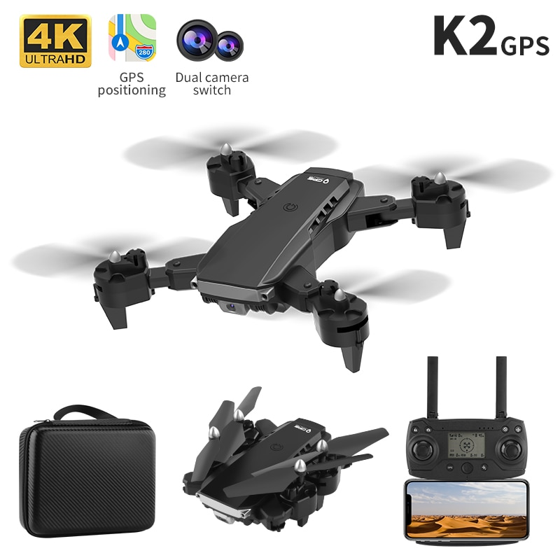 GPS Quadcopter Profissional Obstacle Avoidance Drone Dual Camera 1080P 4K Fixed Height Mini Dron Helicopter Toy