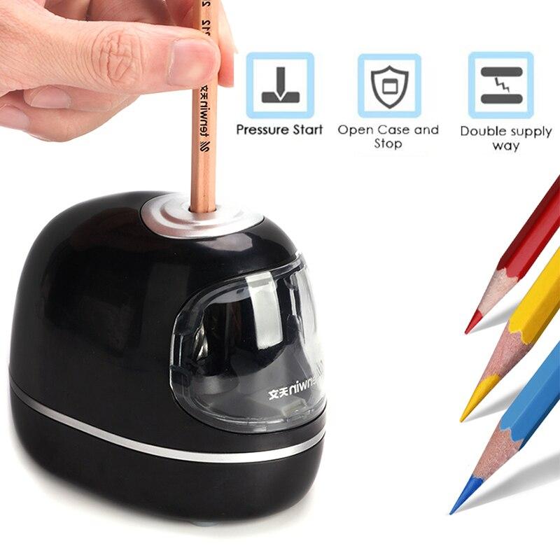 Tenwin Stationery Professional Automatic Pencil Sharpener Electric Cute Mechanical Usb Battery For Kids Children School Supplies недорого