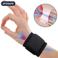 2pcs protective wrist support brace adjustable weight lifting elastic soft pressurized wristband great for tennis outdoor sports