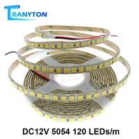 5 м 120/60 светодиодный s 5054 светодиодный светильник водонепроницаемый 12 В постоянного тока гибкий светильник с высокой яркостью, чем 5050 синий ...