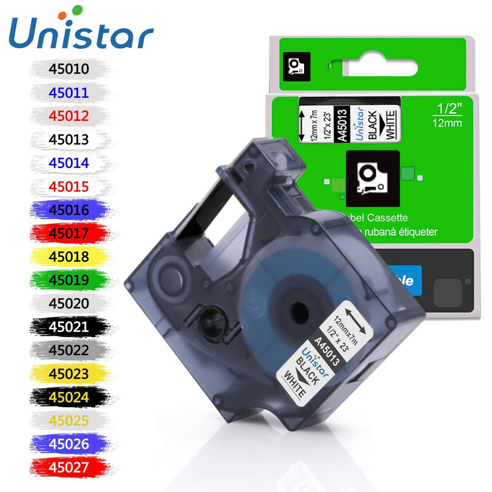 Unistar 45013 Compatible for Dymo D1 12mm 6mm 9mm 19mm 45018 40913 45803 53713 Label Tape for Dymo Label Manager LM160 280 45010 недорого