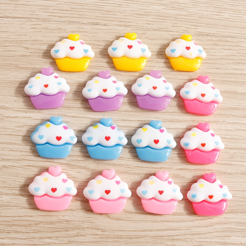 10pcs 19*17mm Candy Colors Resin Ice Cream Cabochons Scrapbook Crafts for Jewelry Making DIY Handmade Hairpin Brooch Accessories недорого
