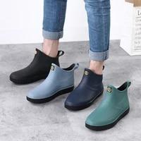 mens shoes waterproof non slip rain boots work fishing rain boots car wash water shoes rubber overshoes non slip rain boots