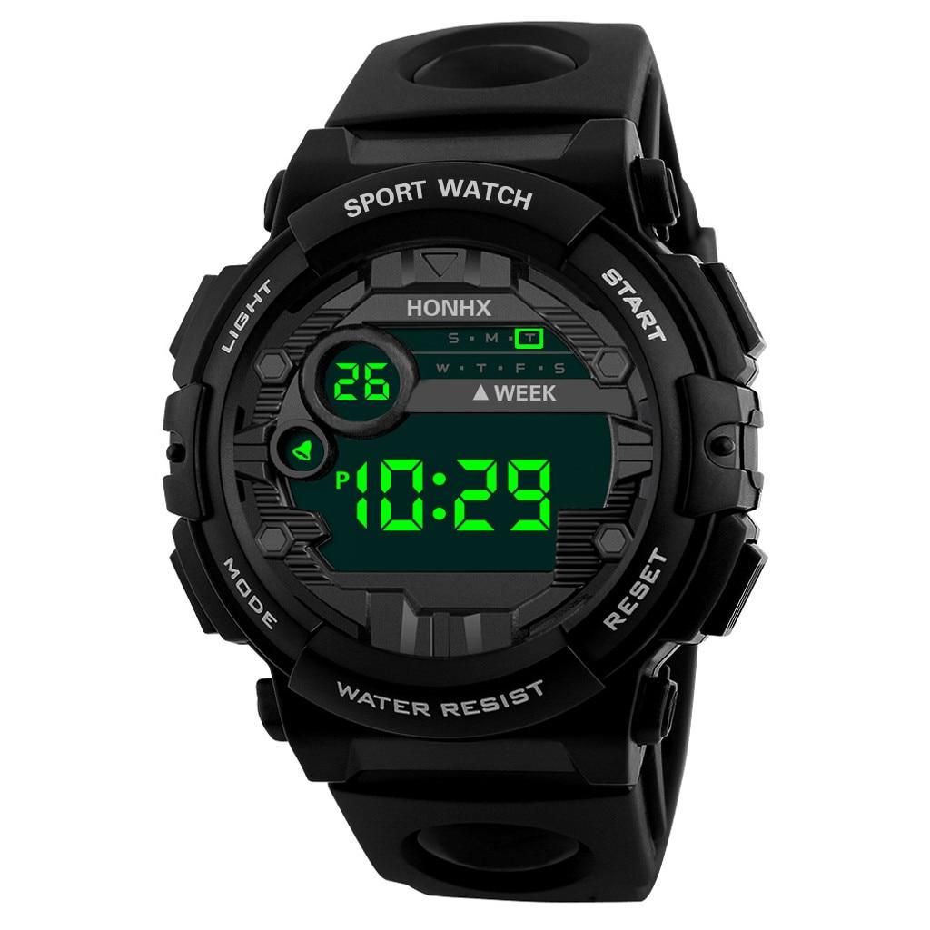 Sports Children's Watch Outdoor Military student Alarm clock fashion Digital LED Date Kids Boy hour black watchband FD3005