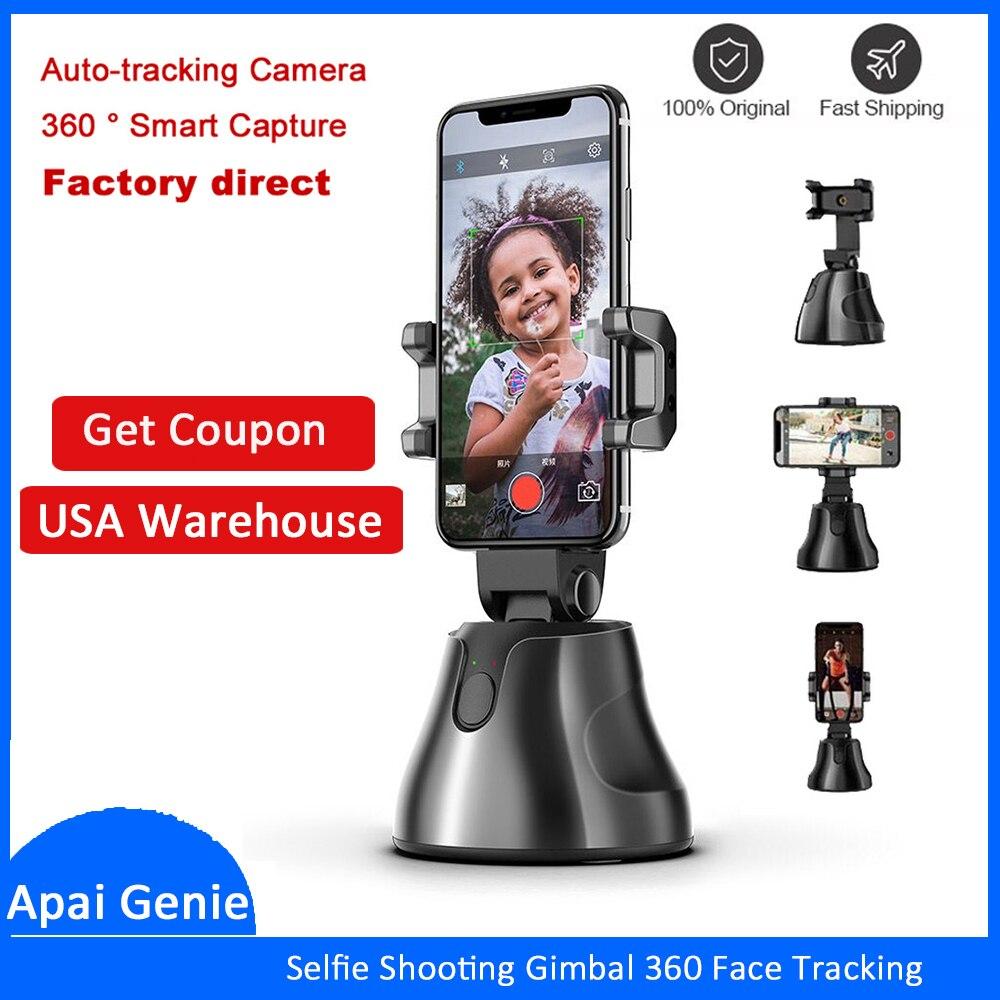 Portátil, todo-en-uno Auto Smart tiroteo Selfie Stick 360 rotación de cara automática objeto de seguimiento vlog Cámara teléfono titular