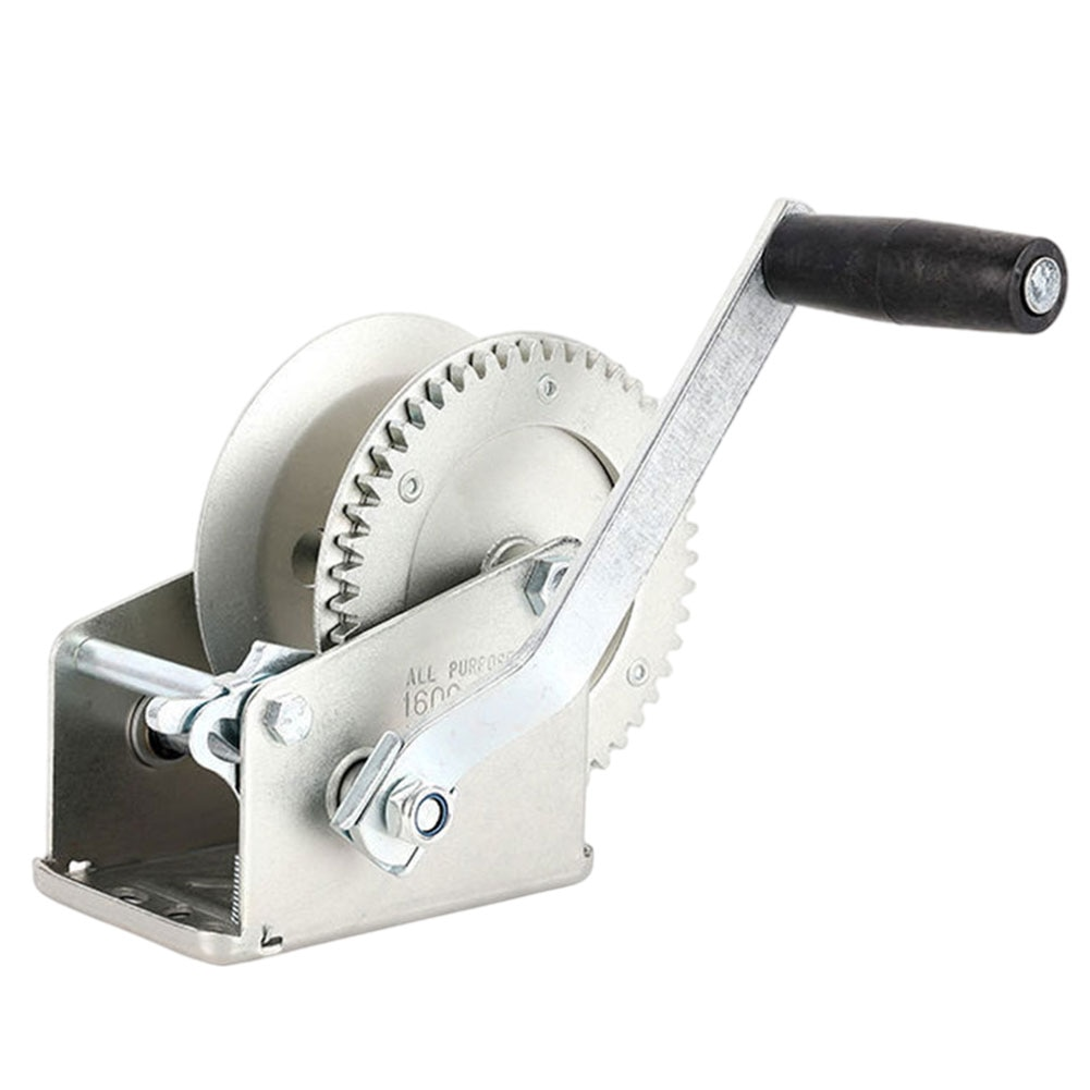 Hand Crank Winch with 2 Gear Winch Heavy Duty Boat Pickup Trucks Trailers Lifting Tool Hand Winch Hand Tool lifting sling