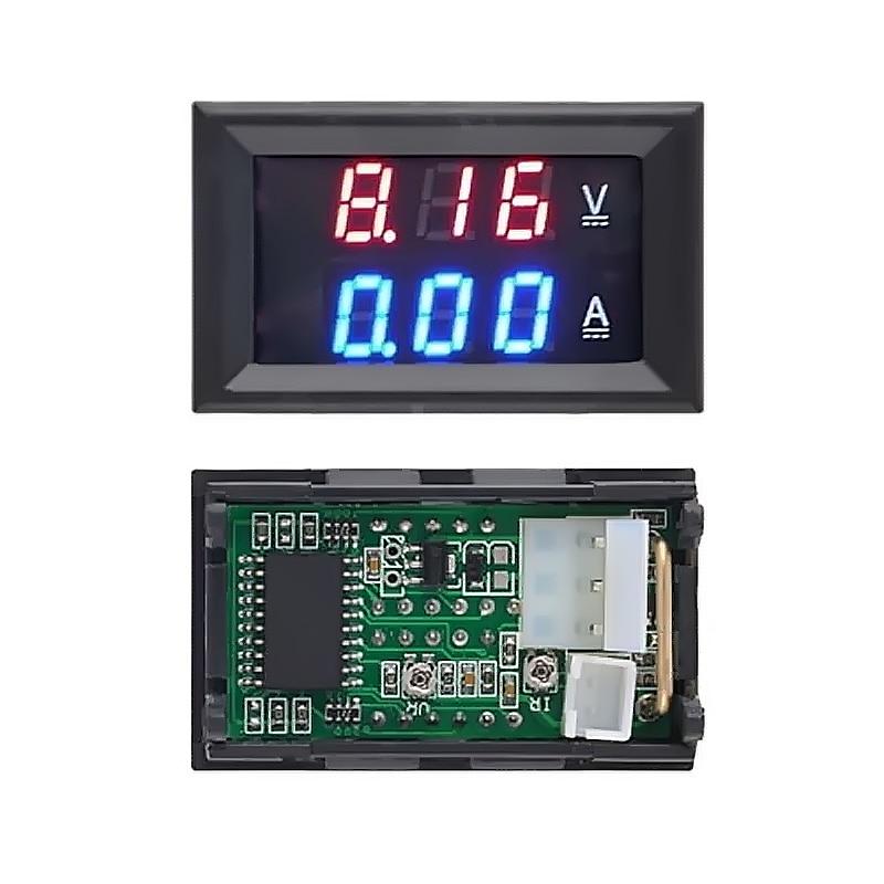 Вольтметр Амперметр постоянного тока 100 в 10 А синий красный светодиодный двойной цифровой вольтметр Амперметр 4,5 в до 30 в вольтметр измеритель напряжения Прямая поставка