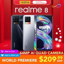 [WORLD Premiere ] realme 8 Global Version 6GB RAM 128GB ROM 30W Charge Helio G95 6.4