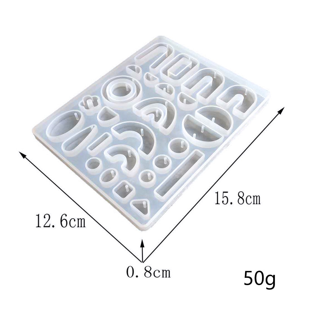 DIY Mirror Earrings Resin Mold Crystal Epoxy Earrings Pendant Silicone Mold Geometry Collection Handmade Mold For Jewelry Making gemstone jewelry silicone mold is suitable for resin epoxy resin diy craft earrings pendant earrings jewelry making