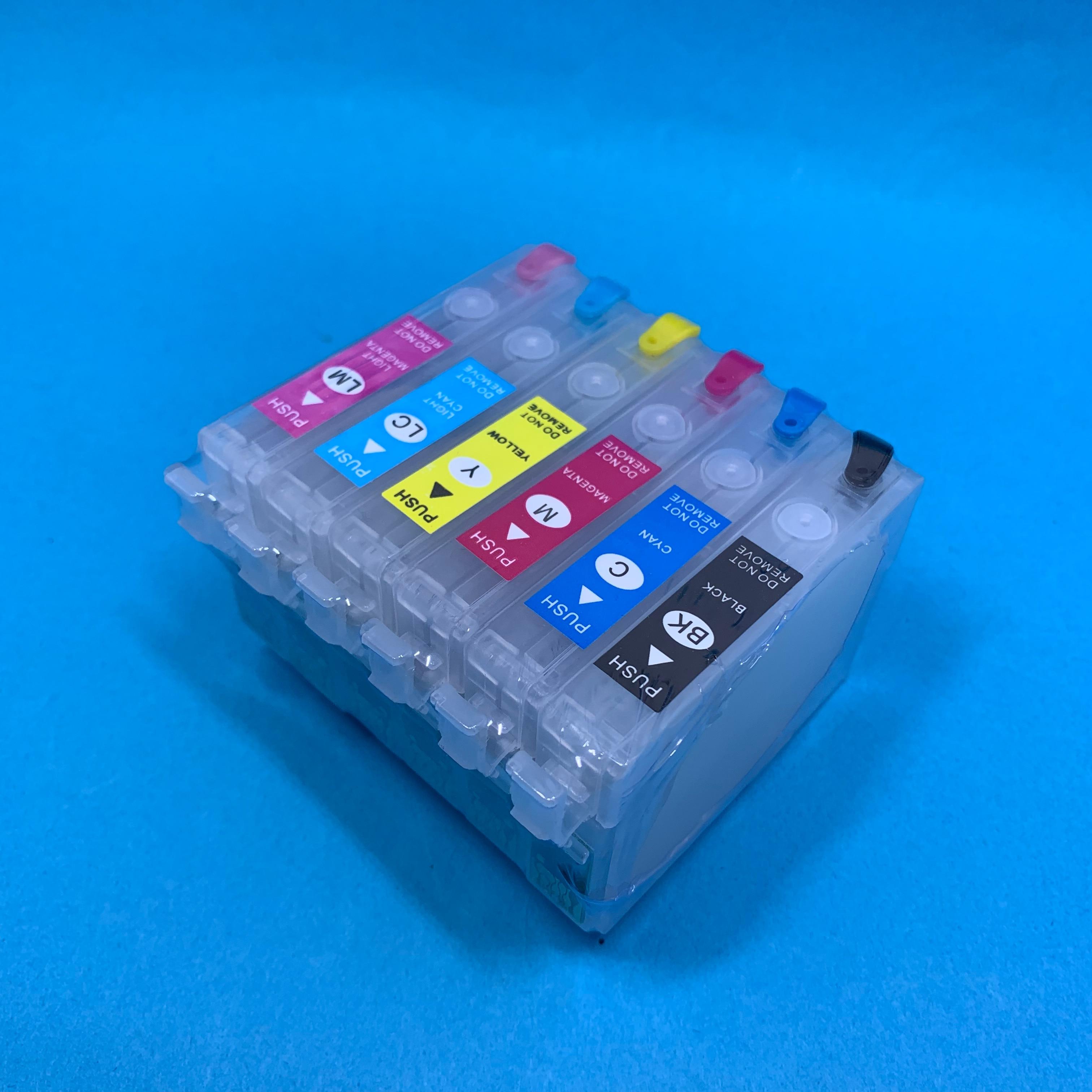 YOTAT Empty T0821N Refillable ink cartridge T0821 - T0826 for Epson Stylus Photo T50/R290/R390/RX590/RX610/RX690/TX650/TX700W