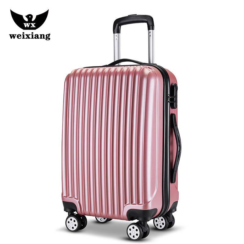 حقيبة أمتعة مقاس 20 بوصة ، 24 بوصة ، عربة ، بطاقة هدايا ، غطاء عالمي مخصص للعجلات ، حقيبة سفر بسحاب ، صندوق كلمة مرور