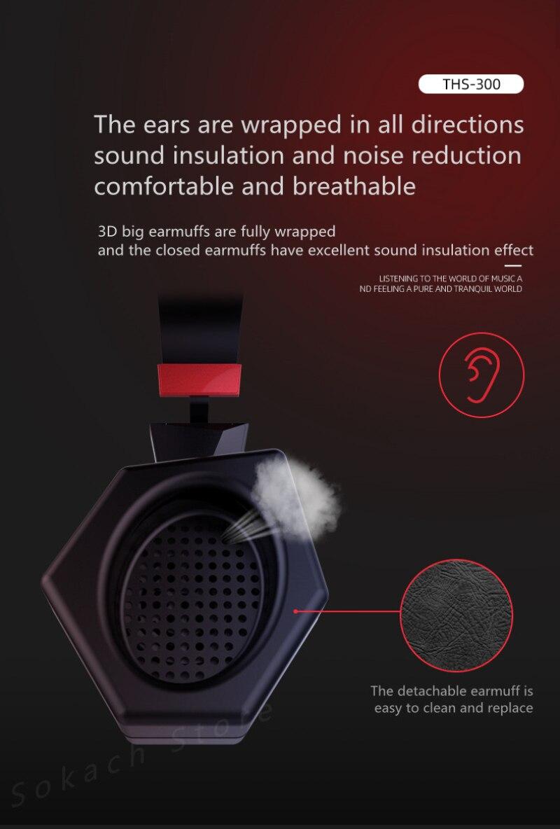 Taidu THS300PRO Dark Eye Game Headset USB+3.5mm Desktop Computer Dual Hole Esports Headset Sound Modifier Stereo enlarge