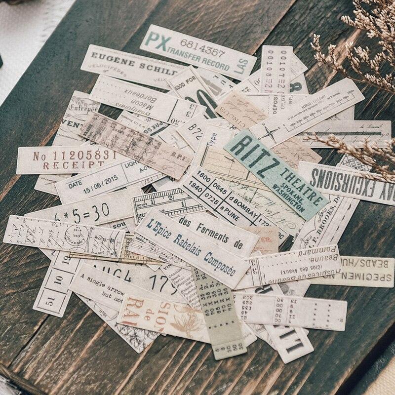Набор стикеров для скрапбукинга, 70 шт., наклейки из бумаги васи листов