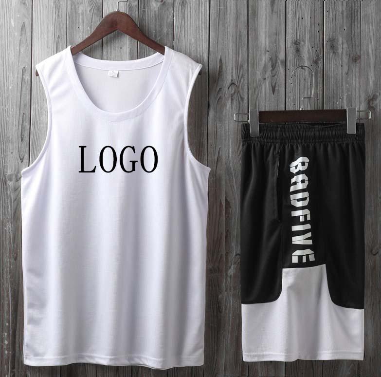 DIY Loose Sleeveless Game Uniform Vest Basketball Uniform Suit Men and Women Team Uniforms Breathable Sports Jersey DIY