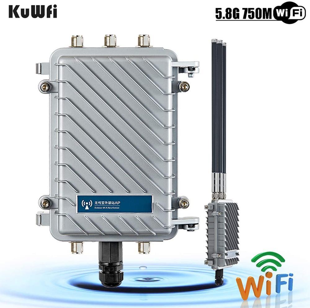 KuWFi-punto de acceso WiFi inalámbrico para exteriores, Estación Base de doble banda...