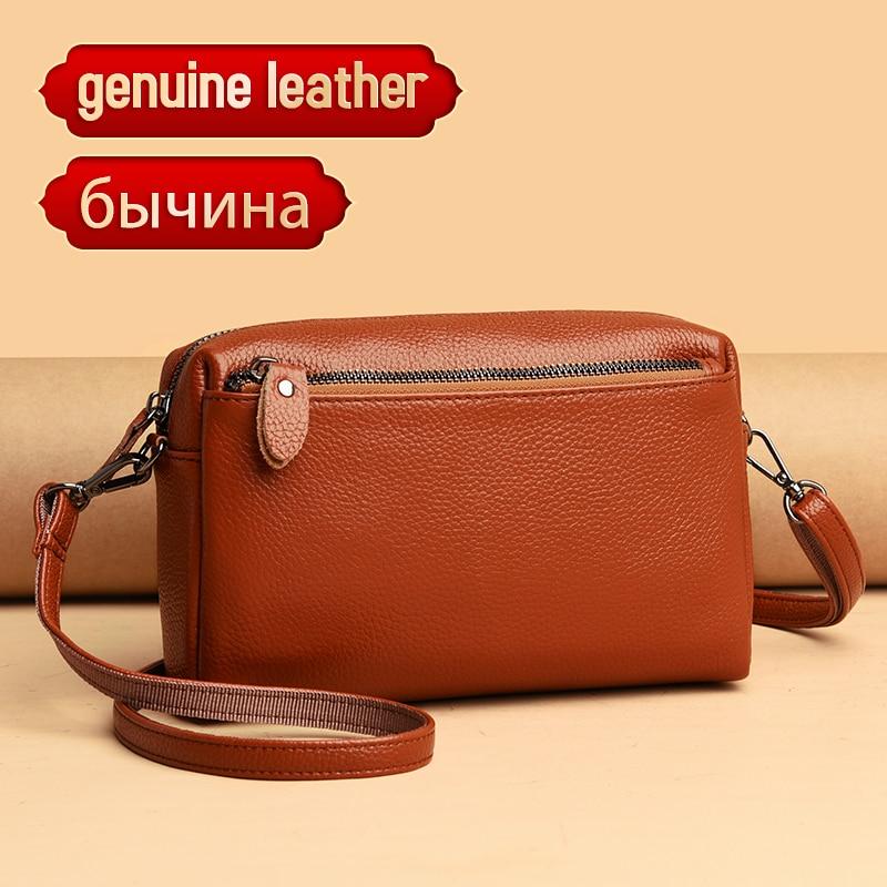 Genuine Leather Real Fashion Women Bag High Quality Shoulder Bag 2020 Small Women's Cross Body Messenger Bag Crossbody Purse