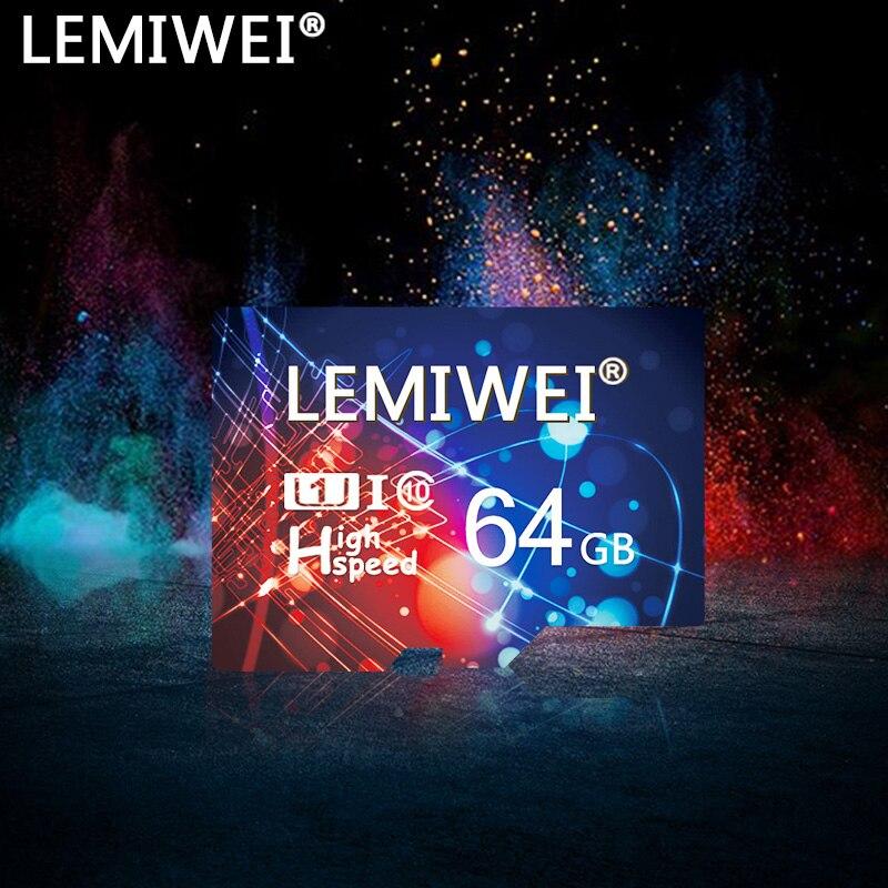 Tarjeta TF de alta velocidad Lemiwei 64GB 32GB 16GB 8GB UHS-I tarjeta de memoria Clase 10 tarjeta Transflash 128MB tarjeta de almacenamiento para Smartphone
