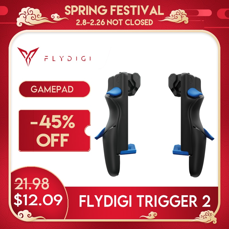 Flydigi Trigger 2 Cellphone Sriggers Accessories Gamepad Controller for Android&Ios Cod Mobile Pubg