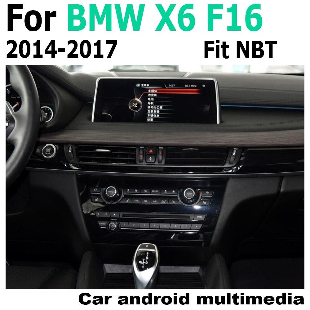 "10,25 ""Android reproductor multimedia para auto BMW X6 F16 2014 ~ 2017 NBT navegación Navi GPS BT 4G 3G WiFi Radio Estéreo"