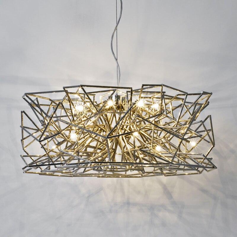 Italian Nordic Postmodern hanging lamp 110v-220v Gold / Rose Gold Novelty Art Minimalist Living Room Dining Bar LED Chandelier