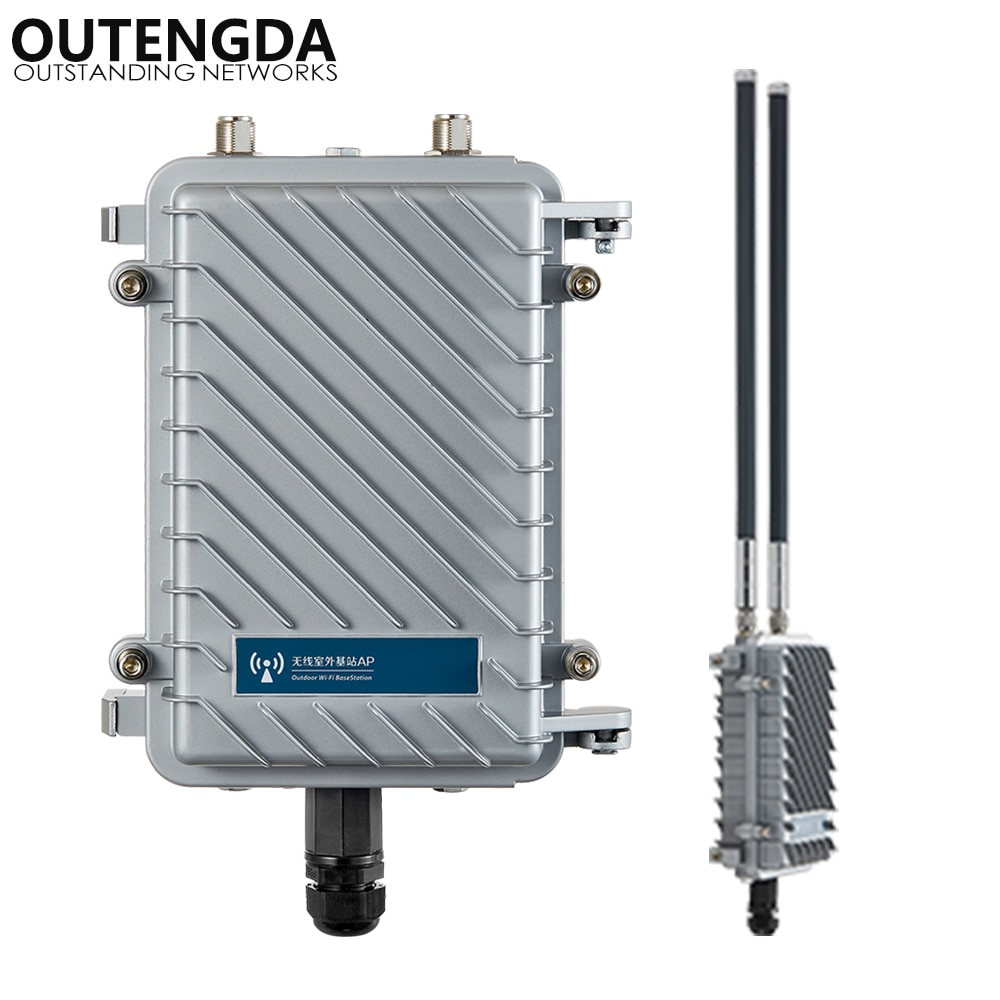 300Mbps 2.4G طويلة المدى في الهواء الطلق AP CPE راوتر واي فاي مكبر صوت أحادي مكرر نقطة وصول لاسلكية مع 12dbi هوائي