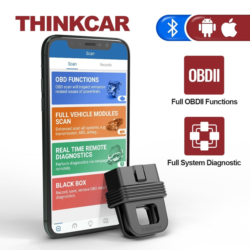 THINKCAR 1S Car Diagnostic Tool OBD2 Scanner Code Reader Full System Full OBDII Functions Automotivo DTCs Lookup Print Report thinkcar thinkscan 609 obd2 car scanner engine tcm abs srs full system auto code reader obd 2 scanner automotivo diagnostic tool