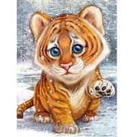 diamond mosaic tiger diy diamond embroidery animal cross stitch diamond painting full square round for children hobby gift